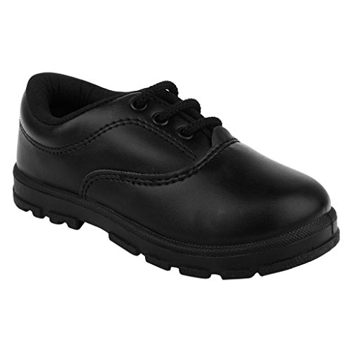 FUEL Kid's Black Laced Up Formal Safety Toe Lead Free School Shoes For Boy's  available at amazon for Rs.239