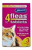 Johnsons Veterinary Products 4Fleas - Pastillas para Gatos y Gatitos, 3 Unidades