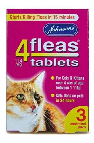 4Fleas Johnsons - Pastillas Contra Pulgas Para Gatos y Gatitos x 3