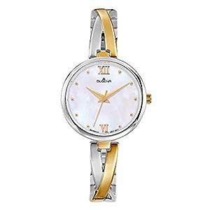 Dugena Damen Quarz-Armbanduhr, Gehärtetes Mineralglas, Edelstahl Schmuckband