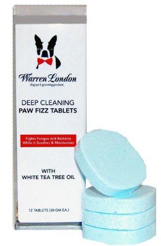 Warren London Deep Cleaning Paw Fizz Tablets, Pack of 12 1