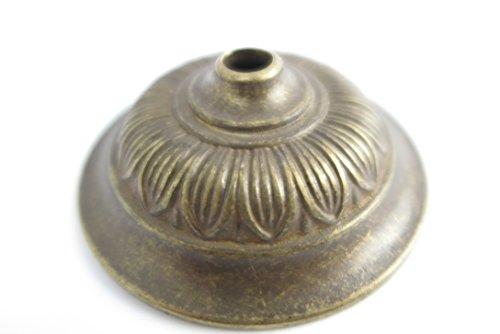 antike Wandrosette Deckerosette Deckenrose aus Messing brüniert Baldachin im Jugendstil