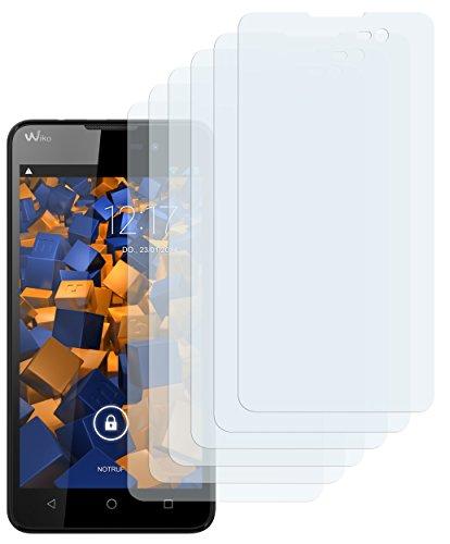 mumbi Schutzfolie kompatibel mit Wiko Lenny 2 Folie klar, Bildschirmschutzfolie (6x)