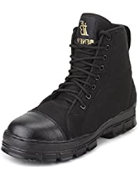ARMSTAR Men's Black Combat Boots - 10 UK