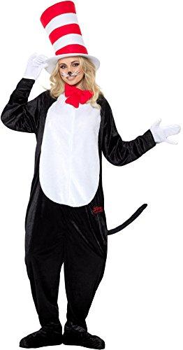 izielles Lizenzprodukt DR SEUSS Cat in the Hat Kostüm, schwarz, S–UK Größe 86,4cm–91,4cm ()