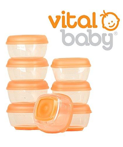 Baby Lebensmittelbehälter, Press 'N' Pop Mini Gefrierschrank entwöhnen Cubes Aufbewahrungsbox Vital 8PK