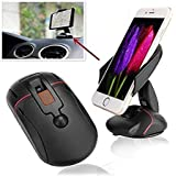AutoRight Multifunctional Mouse Style Car Phone Cradle Car Mobile Phone Holder Stands Mobile Phone Holder(Black)