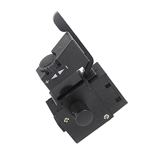 D DOLITY Elektrische Handbohrmaschine Geschwindigkeitsregelungs Schalter Verriegelung Elektrowerkzeug Ersatzteil - Schwarz #1, 7x4x3cm