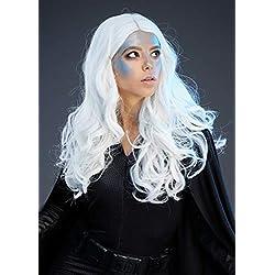 Magic Box Peluca de Estilo de tormenta Blanca Larga de Lujo para Mujer