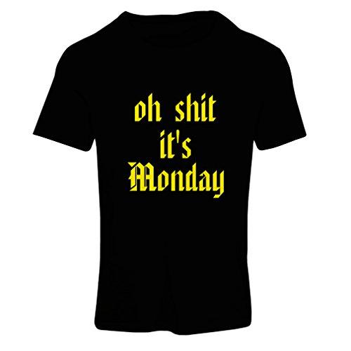 T-shirt femme Oh merde ce est lundi! T-shirt Noir Jaune