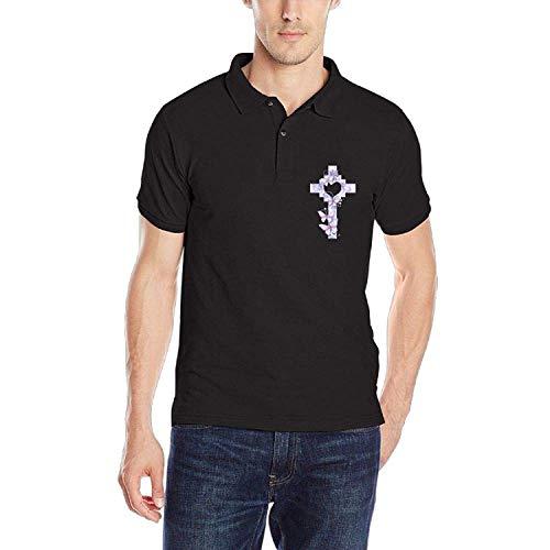 Christian Cross Herren Classic Polo-Shirt Schnelltrocknendes Golf-Polo-Shirt, L (Christian Polo-shirts)