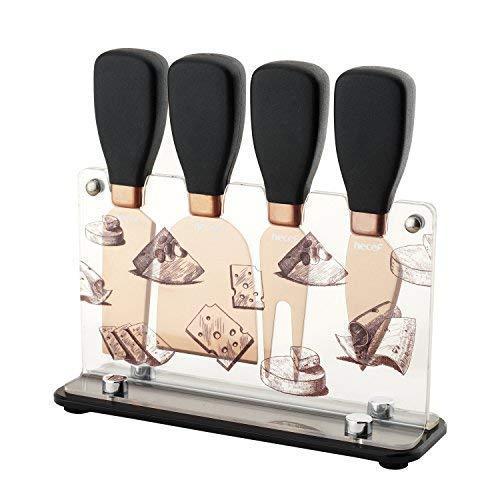 Hecef 5 Piezas Juego de Cuchillos de Queso, Cuchillos de Queso de Acer