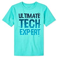 The Children's Place Boys' Ultimate Tech Expert Graphic T-Shirt, 4 Years, Sea Meadow