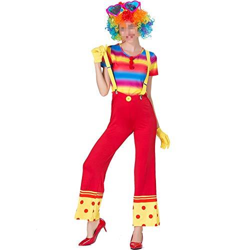 kMOoz Halloween Kostüm,Outfit Für Halloween Fasching Karneval Halloween Cosplay Horror Kostüm,Farbe Magier Clown Kostüm Cosplay Clown Kostüm Halloween Kostüm (Geist Halloween Clown Kostüm)
