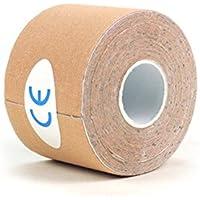 ROSENICE Kinesiologie Tape Sport Muskel Tape Wasserdichte Bandage für Sport Physiotherapie 2,5 cm x 5 m (Hautfarbe) preisvergleich bei billige-tabletten.eu