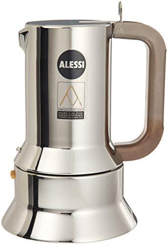 Alessi 9090/M - Cafetera italiana de acero inoxidable para cocinas de inducción, 10 tazas