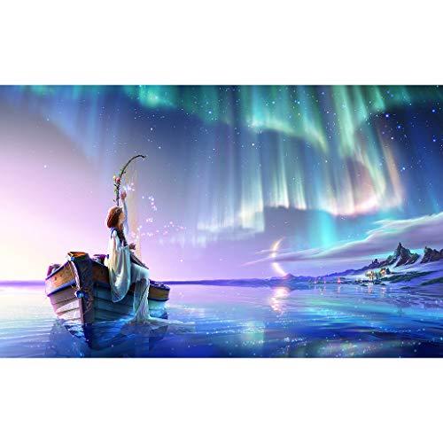 Disney Aurora Kleinkind Kostüm - Caerling 5D Diamant Full Malerei Blume Rose Künstlerische DIY Stickerei Painting Aurora Kreuz Stich Handarbeiten Sticken Diamond Dekoration 30x40cm