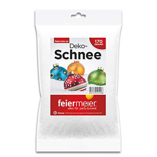 feiermeier Kunstschnee im Beutel 170g - funkelnd glitzernd Dekoschnee Schnee Pulverschnee