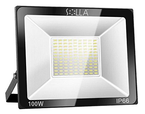 Solla faretto da esterno ip65 a led 60w proiettore faro luce bianca