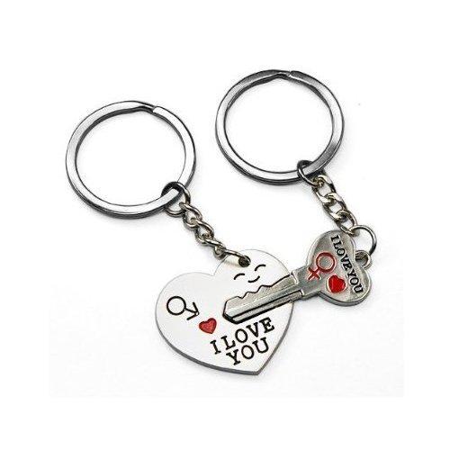 SODIAL(TM) Freccia 'I LOVE YOU' Cuore + Chiave portachiavi regalo d'amore per co