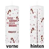 Herz & Heim Adventskerze mit persönlichem Aufdruck - Advent Advent EIN Lichtlein brennt