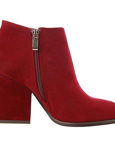 WSS 2016 Chaussures Femme-Extérieure / Bureau & Travail / Soirée & Evénement-Noir / Marron / Rouge / Kaki-Talon Compensé-Talons / Bout Pointu- black-us8 / eu39 / uk6 / cn39
