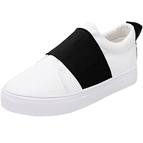 Minetom Femmes Casual Toile Mocassins Chaussures Slip-on Chaussures Plates