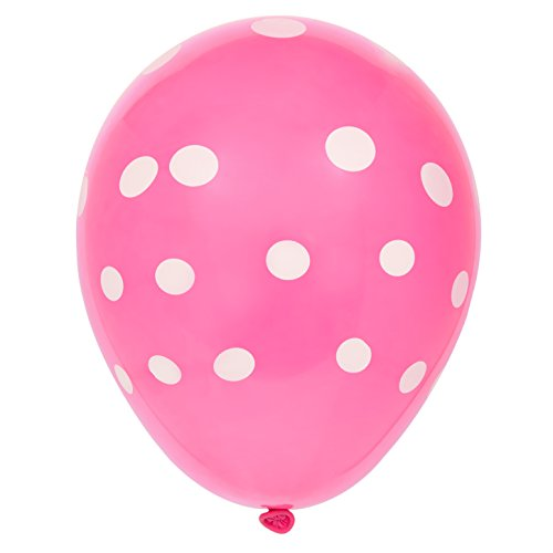 12-latex-hot-pink-polka-dot-balloons-pack-of-6