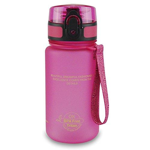 SMARDY Tritan Botella Agua Beber Rosa   350ml   plástico