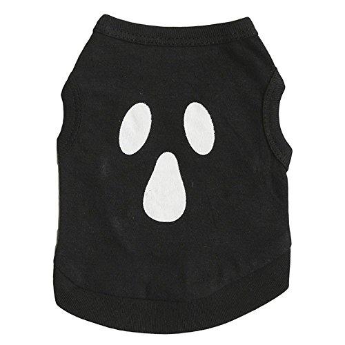 KariNao Haustier Halloween Geist Weste Hunden Einfach Mode Sommer Kleider Kostüm Welpen Kleidung (L, ()