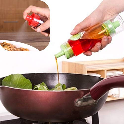 dichter 2-in-1 kreatives Küchenwerkzeug für Olivenöl, Sojasauce, Essig, Zerstäuber Einheitsgröße ()