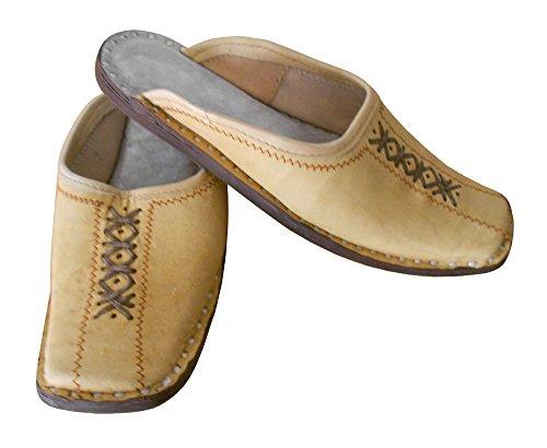 kalra Creations hommes Chaussures de chausson en cuir traditionnel Indien Étui à rabat pour Camel