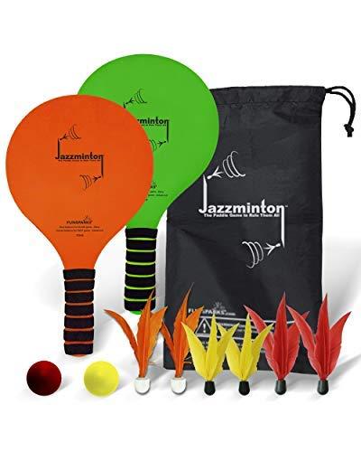 Funsparks jazzminton Deluxe 3 in 1 Paddel Ball Spiel