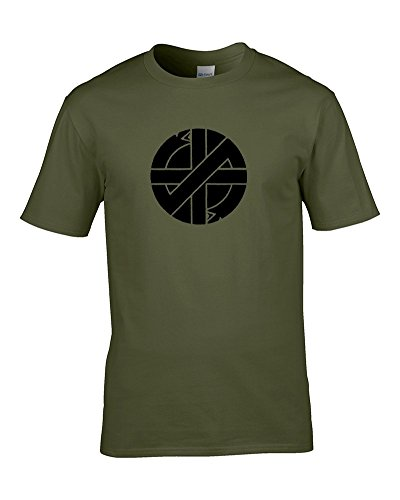 CRASS Punk Rock Retro Iconic Logo- Men's T-Shirt, Many Colours, S to XXL