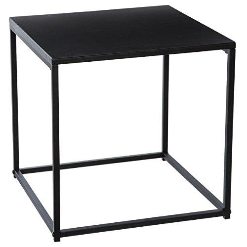 Tavolino basso in metallo - stile industriale- colore: nero