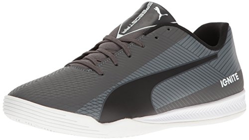 Puma-Mens-Evospeed-Star-S-Ignite-Soccer-Shoe-Asphalt-BlackQuiet-Shade-White-45-M-US