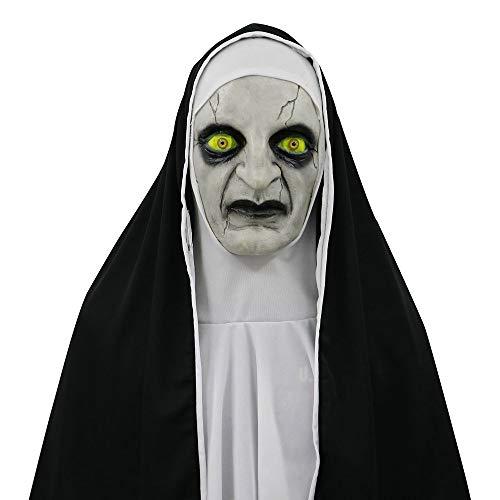 TianranRT Halloween Gruselig Requisiten Die Beschwörer Teufel Nonne Horror Masken Mit Kostüm