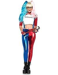 Fast Fashion - Disfraz para mujer de Harley Quinn del Escuadrón suicida, multicolor