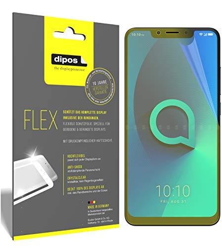 dipos I 3X Schutzfolie 100% passend für Alcatel 5V Folie (Vollständige Bildschirmabdeckung) Bildschirmschutzfolie