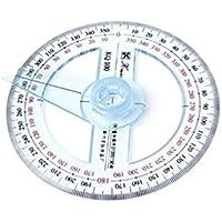 Gankmachine Plástico de 360 grados prolongador regla Buscador de ángulo de giro del brazo escuela de la oficina Regla Ángulo