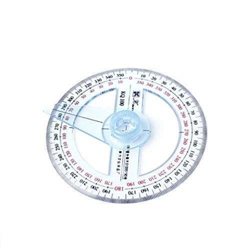 Topker En plastique 360 degrés rapporteur d'angle de gouverneur de rapporteur d'oscillation...