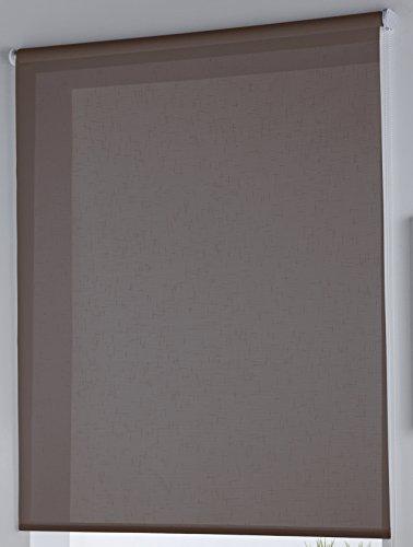 Rollertor Dresde - Estor Enrollable, Tela, Marrón, 130 x 175 cm