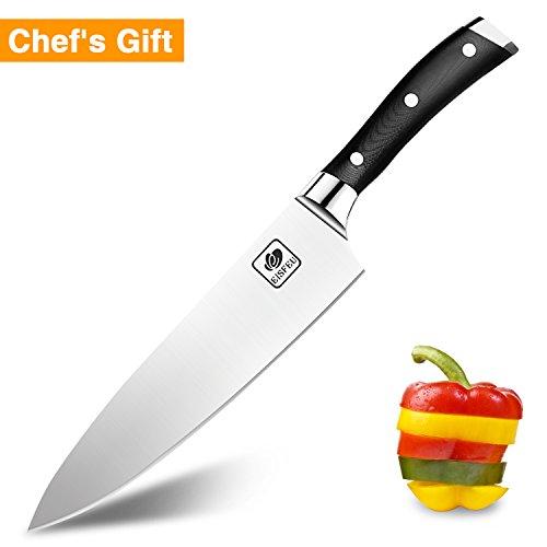 Cuchillo de Chef, Eisfeu Cuchillo cocina de 20cm, Cuchillo cocinero, H