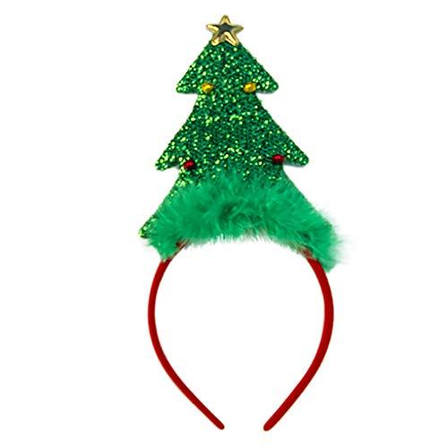 BDToy Weihnachten Stirnband Rentier-Haarreifen Kopfbedeckung Haarschmuck mit Led Licht Weihnachtsfeier Kostüm Deko