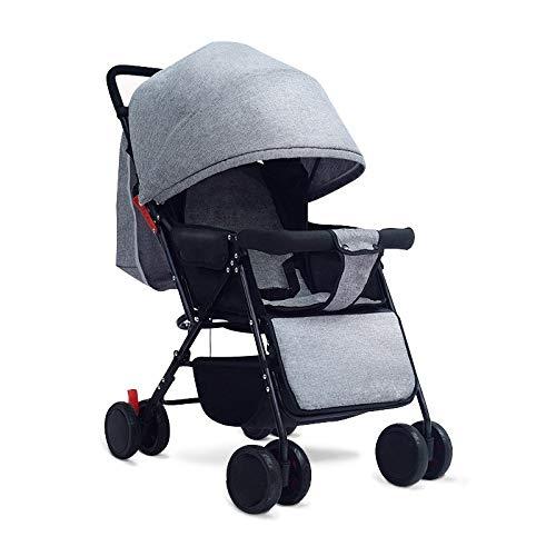 LQRYJDZ Kinderwagen, kann sitzen und liegen Falten Sie den tragbaren leichten Reise-Kinderwagen (Aluminiumlegierungsrahmen, stoßfestes Vierrad) mit 5-Punkt-Sicherheitsgurt (Color : D)