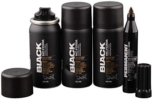 Montana Black Sprühdose Pocket Can 50ml black - 3x50ml Vorratspack exklusiv und nur original von klamottenstore -