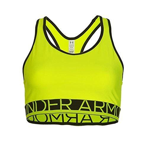 Under Armour–Maglietta mid-impact sostegno reggiseno sportivo Yellow
