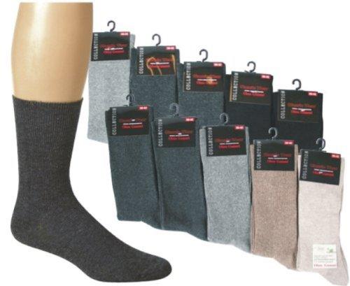 10 Paar Gesundheitssocken Baumwolle ohne Gummidruck für Damen und Herren, Farbe:Marine;Größe:39-42