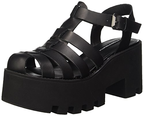 WINDSOR SMITH Sandalen der Frauen schwarz FLUFFY Nero