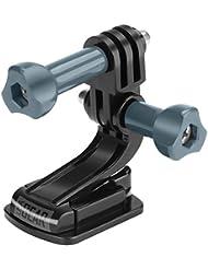 USA Gear Support Adhésif pour Caméras Embarquées – Compatible avec GoPro Hero4 Silver, Hero Session, Hero3+ Silver / Excelvan / TecTecTec XPRO1 / SAVFY Multifonction SJ4000 / Vivitar / Ultrasport / Canon / Nikon et plus!